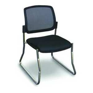 Visitor Chair black chrome Fermata Wmcslbc