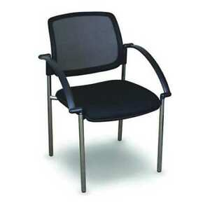 Stackable Visitor Chair arms Fermata Wmcstbca