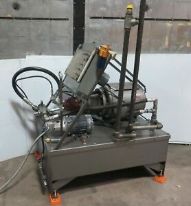 40 Hp Hydraulic Pump Power Unit With Accumulator Tanks 3 000 Psi Lincoln Motor