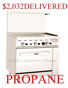Propane Lp Gas 36 Inch Wide 3 Foot Commercial Griddle Range Flat Top Oven