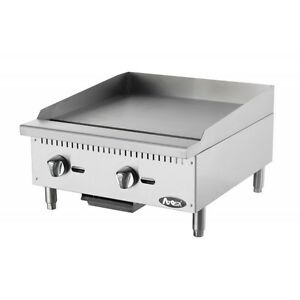 Atosa Usa Atmg 24 Heavy Duty Stainless Steel 24 inch Manual Griddle Natural Gas