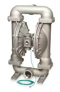 3 Stainless Steel Gas Double Diaphragm Pump 235 Gpm 220f