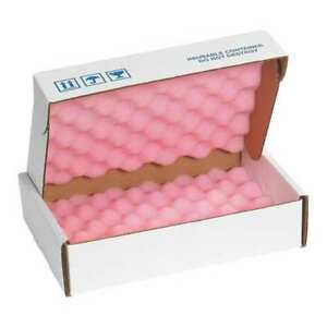 Partners Brand Fsa1282 Anti static Foam Shippers 12 x8 x2 3 4 pink wht pk24