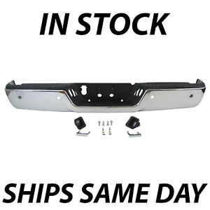 New Chrome Steel Rear Bumper Assembly For 2009 2018 Dodge Ram 1500 W Park 09 18