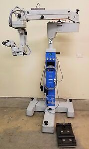 Zeiss Opmi Cs xy Single Inclinable Surgical Microscope On S4 Stand Inv 2674