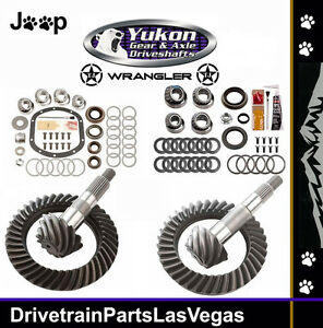 Yukon Dana 35 30 4 56 Ratio Front Rear Ring Pinion Gears Master Kits Jeep Tj