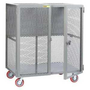 Little Giant Scn 2448 6py pb Tool Security Cart w pegboard Storage