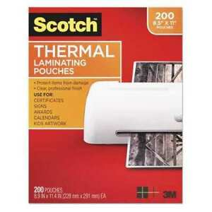Pouch thermal 3mm clear pk200 Scotch Tp3854200