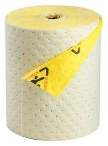 Brady Spc Absorbents Chbb15 Absorbent Roll chem hazmat black yellow G1658399