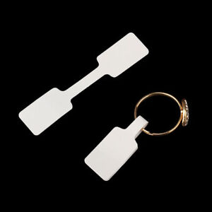 100pcs Jewelry Price Tags Necklace Ring Bracelet Blank Labels Paper Stickers