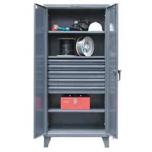 Storage Cabinet 5 Drawers 3shelves 36inw Strong Hold 36 243 5db