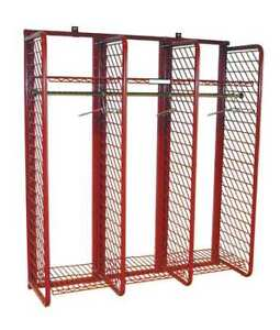 Grove Rrwm 3 20 Turnout Gear Rack Wall Mount 3 Comprtmnt Number Of Sides 1