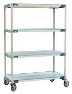 Utility Cart microban 60x24x68 4 Shelf Metro X566efx3