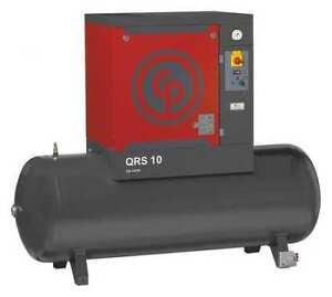 Rotary Screw Air Compressor 10hp 60gal Chicago Pneumatic Qrsm 10 Hp