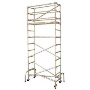 Scaffold Tower 15 1 2 Ft H Aluminum Werner Gw401