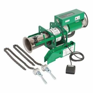 Greenlee 6901 Cable Puller 8000 Lb 120v w chain Mount