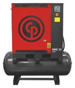 Rotary Screw Air Compressor 30hp 3ph Chicago Pneumatic Qrs 30 Hp