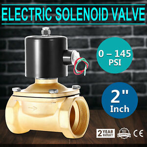 2 Npt Brass Electric Solenoid Valve Normally Closed Anti corrosion 110v Ac