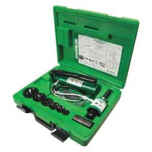 Ram And Hand Pump Hydraulic Driver Kit Greenlee 7306