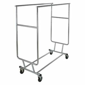 Collapsible Double Bar Garment Rack Econoco Rcs 3