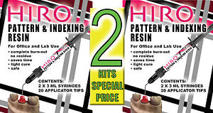 Hiro Dental Pattern Resin Modeling Indexing Lc Two Kits The Next Generation