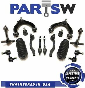 24 Pc New Suspension Kit For Honda Civic 1999 2000 Si Models Upper Control Arms