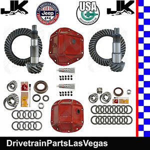 Jeep Wrangler Jk Dana 44 30 Re Gear Ring Pinion Pkg Usa Std 4 11 Kits Rt Covers