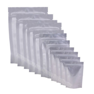 Variety Of Sizes For Heavy Duty Aluminum Foil Silver Stand Up Zip Lock Bag M19