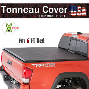 Premium Roll Up Lock Tonneau Cover For 2005 2019 Nissan Frontier 6 Ft 72 Bed