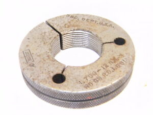 Used Taft Pierce Thread Ring Gage 1 3 4 X 12 N3 nogo P d 1 691