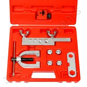 Iso bubble Flaring Tool Kit 9 Piece Includes Blow molded Case W Mini Cutter