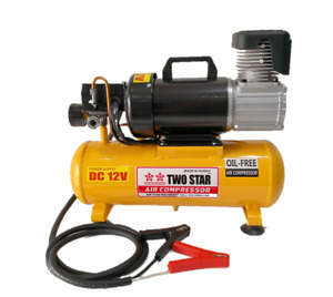 Two Star 12v Dc Professional Portable Oil Free Air Compressor With 8 Liters Tank
