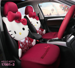 2020 New Hello Kitty Car Cute Cartoon Four Seasons Fashion Car Seat Cover
