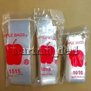 Apple Brand 1 X 1 5 2mil Clear Reclosable Ziplock Plastic Bags Baggies Jewelry
