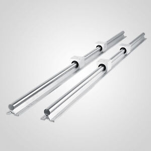 New Sbr12 1500mm Supported Linear Rail Shaft Rod With 4 Pcs Sbr12uu