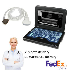 Portable Notebook B ultrasound Diagnostic System With 3 5 Mhz Convex Probe
