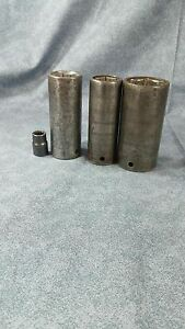 Lot Of 4 Matco Impact Sockets Cdp406 Cdp286 Cdp306 Bp10m2