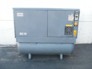 Atlas Copco Gx15 20hp Rotary Screw Air Compressor Kaeser Ingersoll Rand Quincy