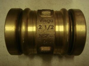New Viega Propress 2 1 2 Cxc Bronze Coupling