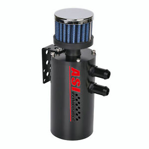 Asi 300ml Aluminum Baffled Oil Catch Can Reservoir Tank W Breather Filter