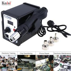 Eu Plug Soldering Rework Station Iron Welder Desoldering Hot Air Gun 3 Nozzles