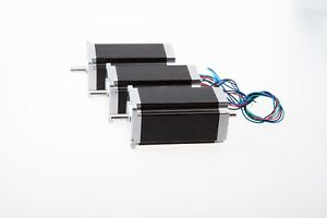 us Free Ship 3 Pcs Nema 23 Dual Shaft Stepper Motor 425 Oz in 3 0a For Cnc Mill