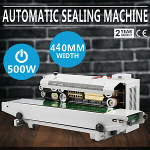 6 12 Mm Automatic Horizontal Continuous Plastic Bag Band Sealing Sealer Machine