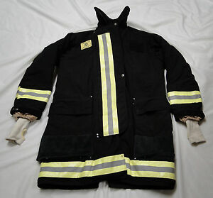 Morning Pride Fdny Style Black Turnout Jacket Chest 44 Gently Worn Excellent