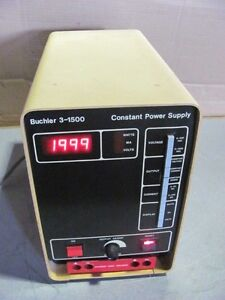 Oem Buchler 3 1500 Constant Power Supply Model 3 1500