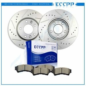 Front Discs Brake Rotors And Ceramic Pads Kit Fits Ford Lincoln Mazda 6 Mercury