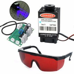 Focusable High Power 2 5w 445nm Blue Laser Module Ttl 12v Carving W Red Goggles