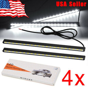 4x 9w White Led Rock Light For Jeep Atv Suv Offroad Truck Boat Underbody Lamp Us