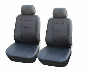 A159 Bk Leather Like 2 Front Bucket Car Seat Cover Compatible To Toyota Tacoma