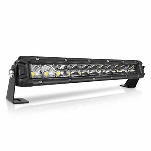 Tri Row 12 Inch 594w Led Work Light Bar Spot Flood Combo Offroad Utv Truck Vs 15